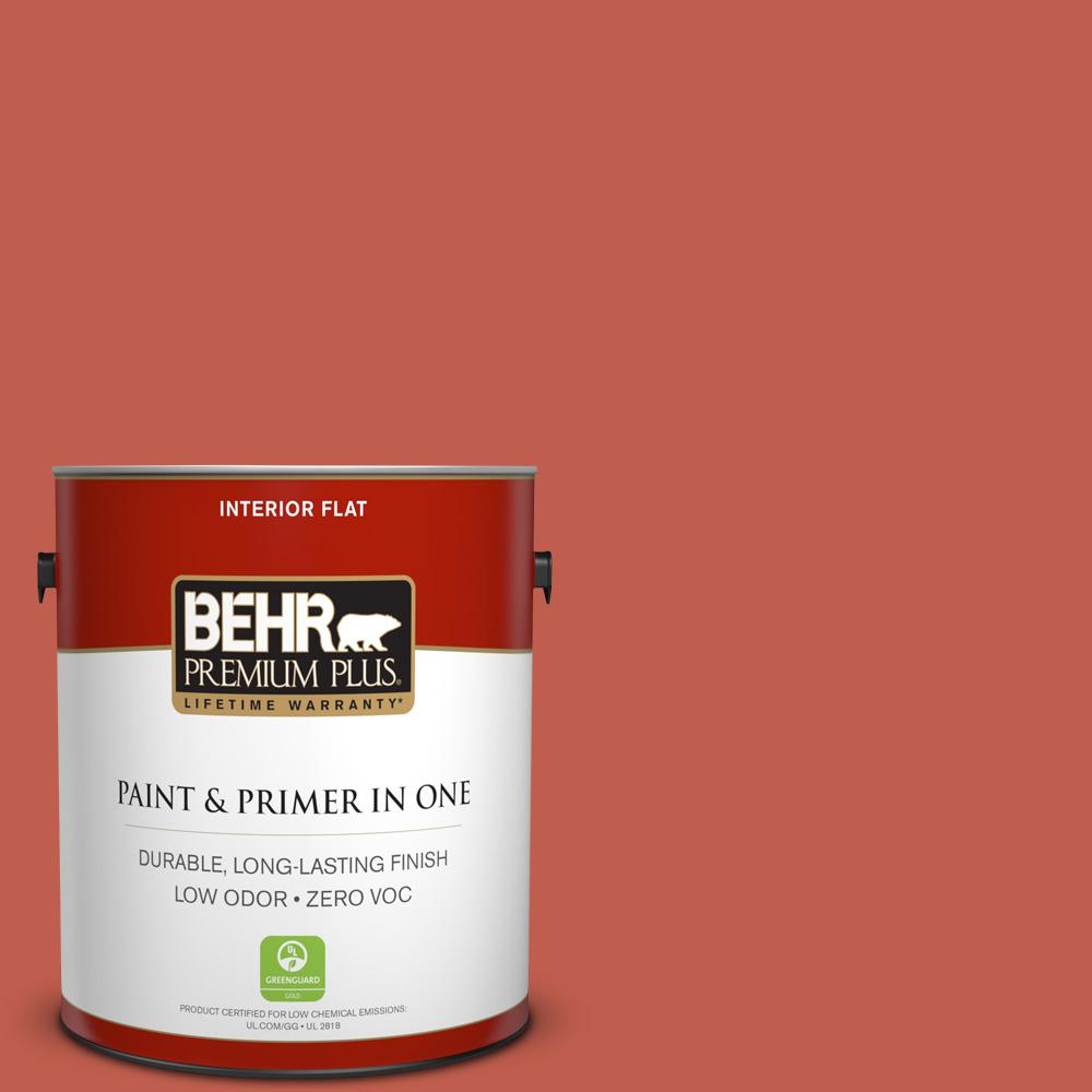 BEHR Premium Plus 1-gal. #200D-6 Mexican Chile Zero VOC Flat Interior Paint