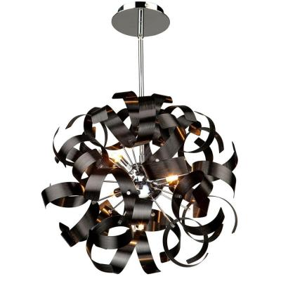 5-Light Metallic Black Pendant