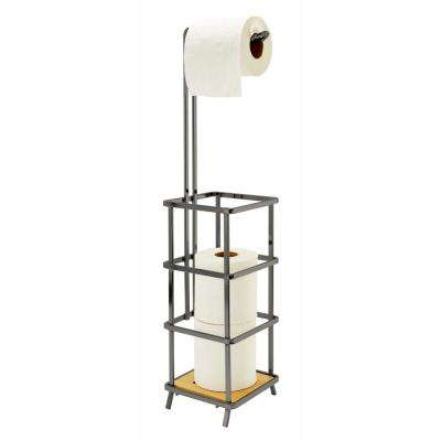 Natural Bamboo Toilet Paper Holder and Dispenser
