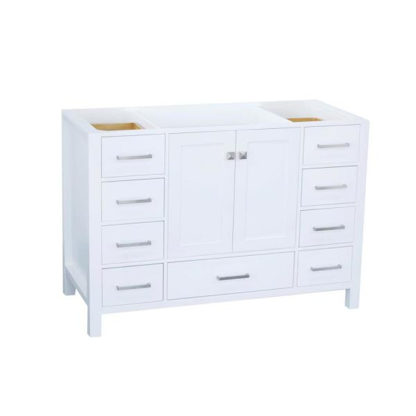 Cambridge 48 in. W Vanity Cabinet Only in White