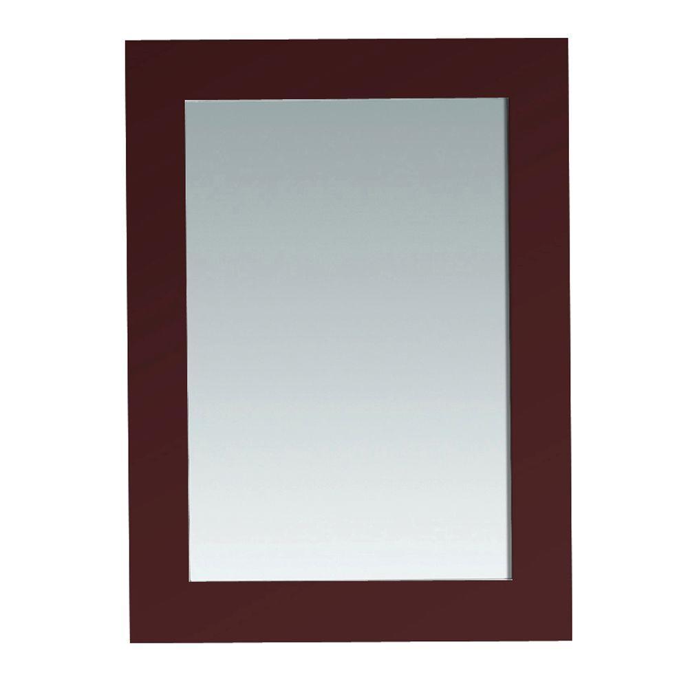 Austen 30 in. L x 22 in. W Wall Mounted Mirror in Dark Cherry