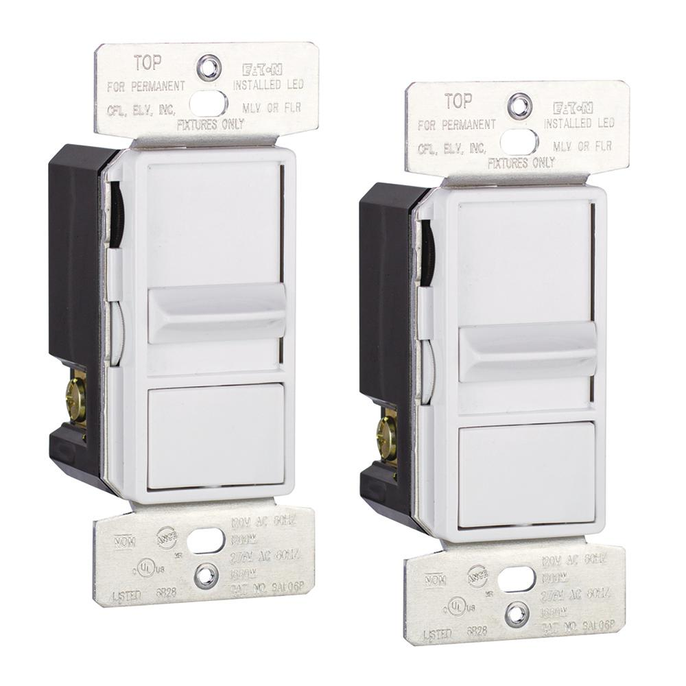 eaton skye al series 3 way single pole sliding dimmer switch with rapid start