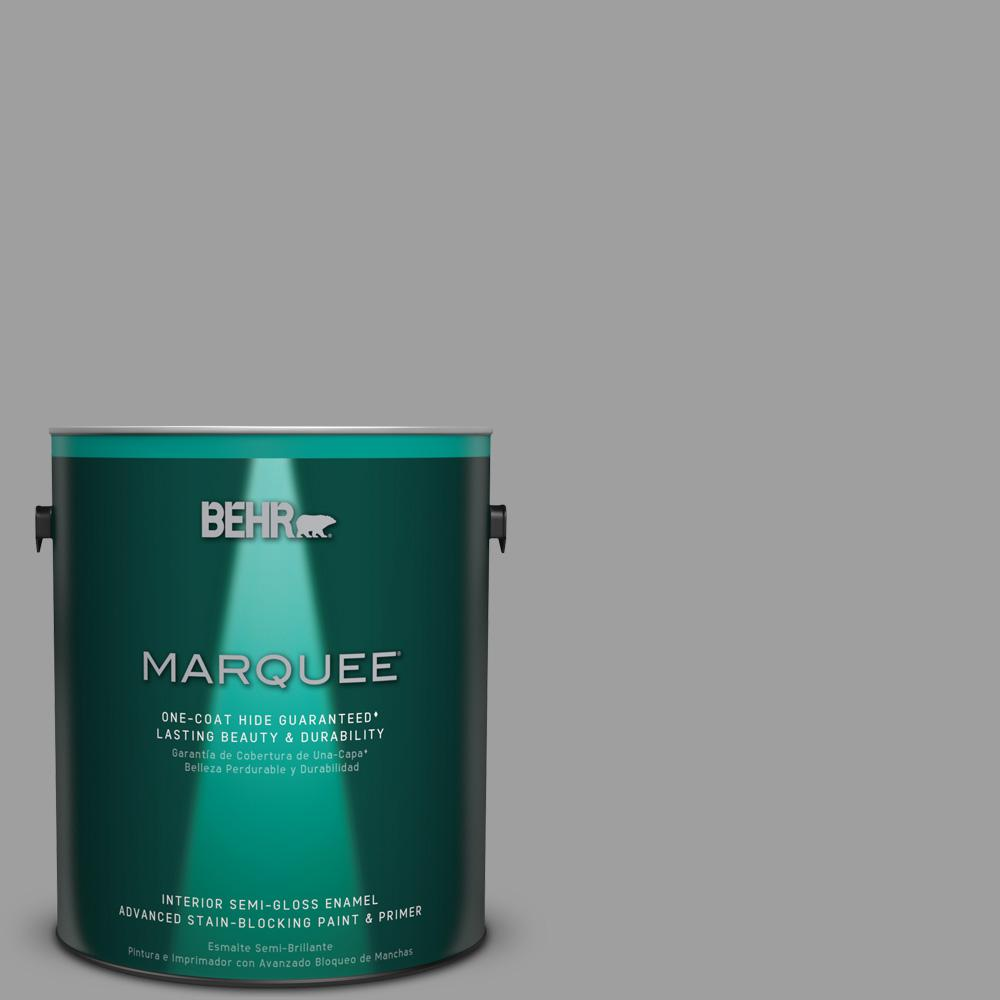 1 gal. #PPU26-06 Elemental Gray Semi-Gloss Enamel Interior Paint
