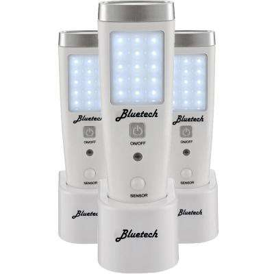 LED Flashlight/Night Light for Emergency Preparedness, Power Failure, Portable Unit with Motion Detection (3 per Box)