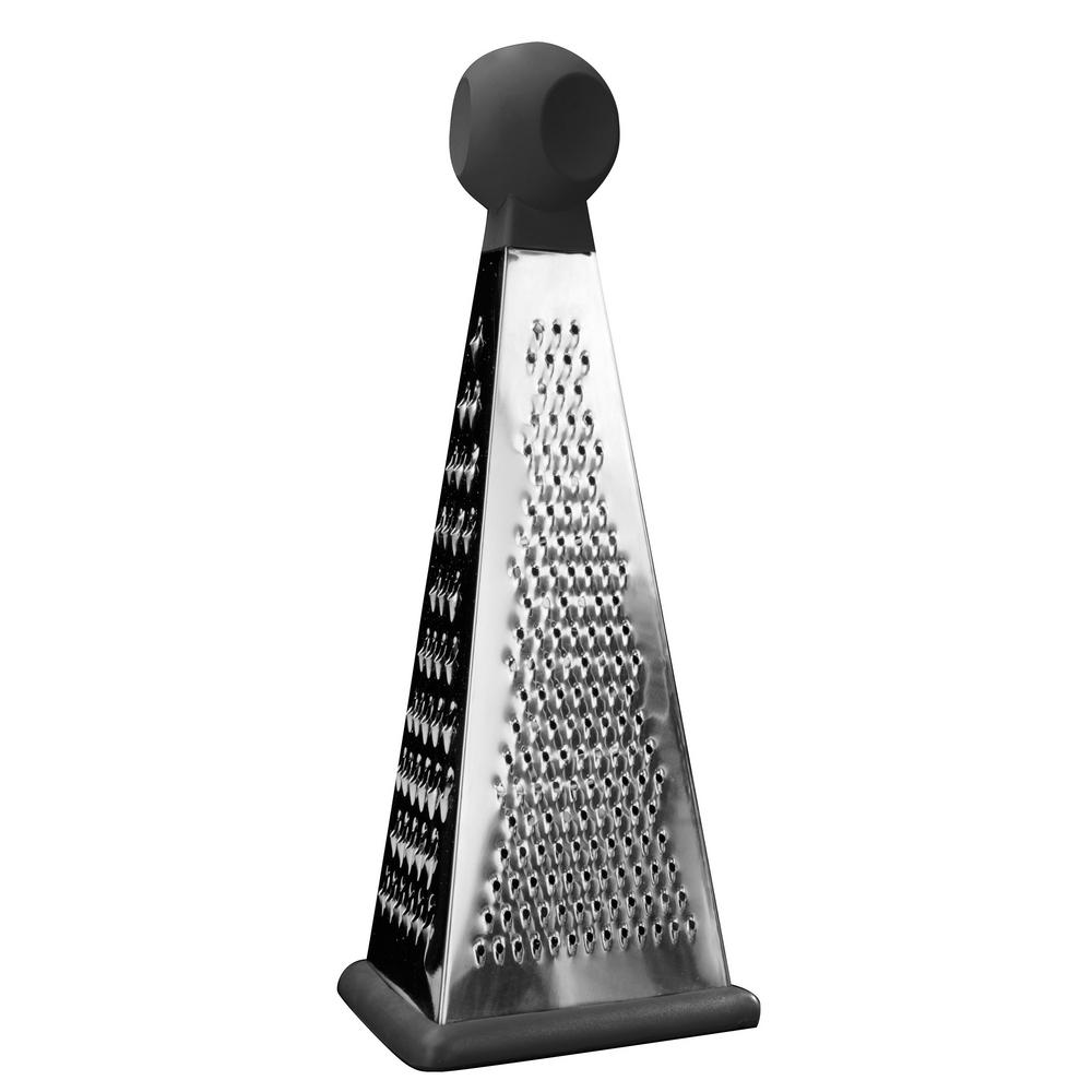 Essentials 8 in. Stainless Steel 3-Sided Grater