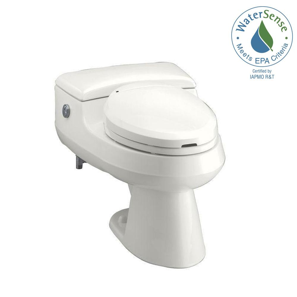 KOHLER San Raphael Comfort Height 1-Piece 1.0 or 1.4 GPF Dual Flush Power Lite Elongated Toilet in White