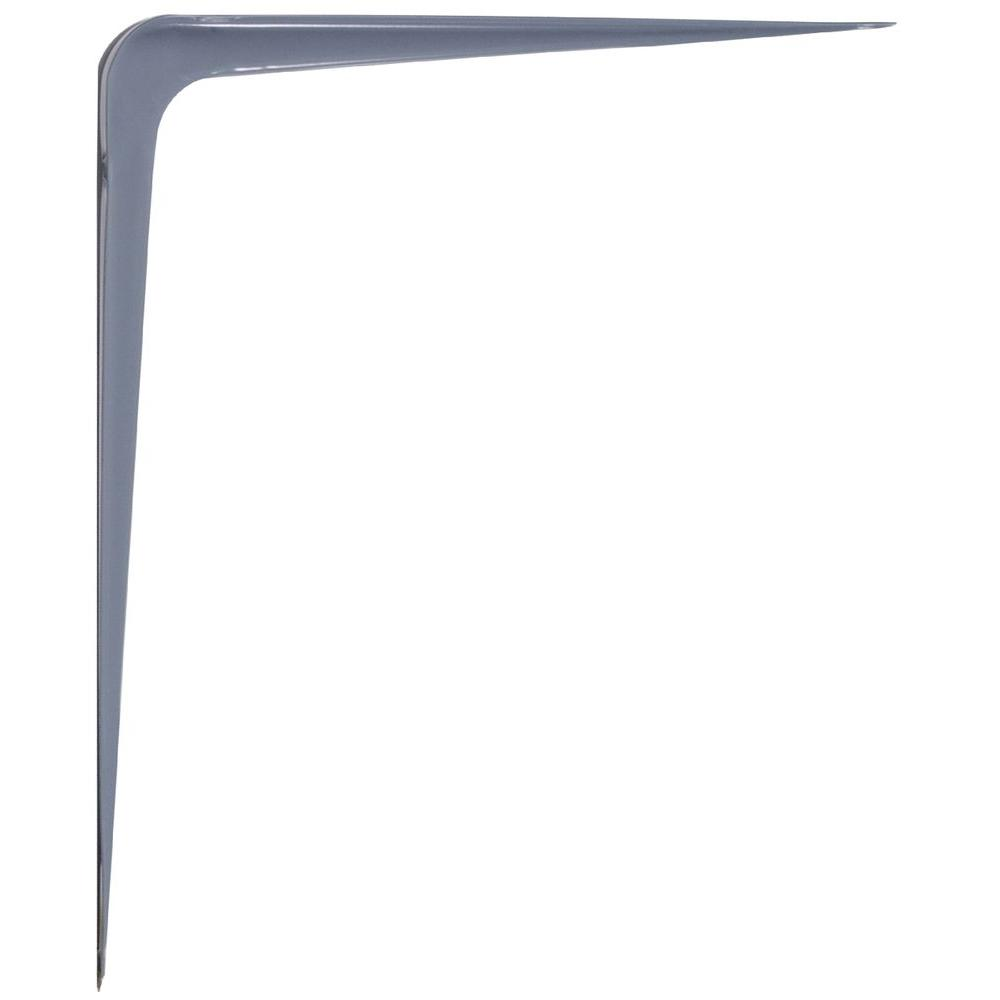 10 in. x 12 in. Gray Shelf Bracket (20-Pack)