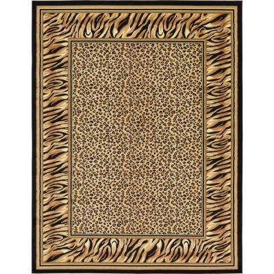 00b3135f63 Wildlife Cheetah Light Brown 9  0 x 12  0 Area Rug Wildlife Cheetah ...