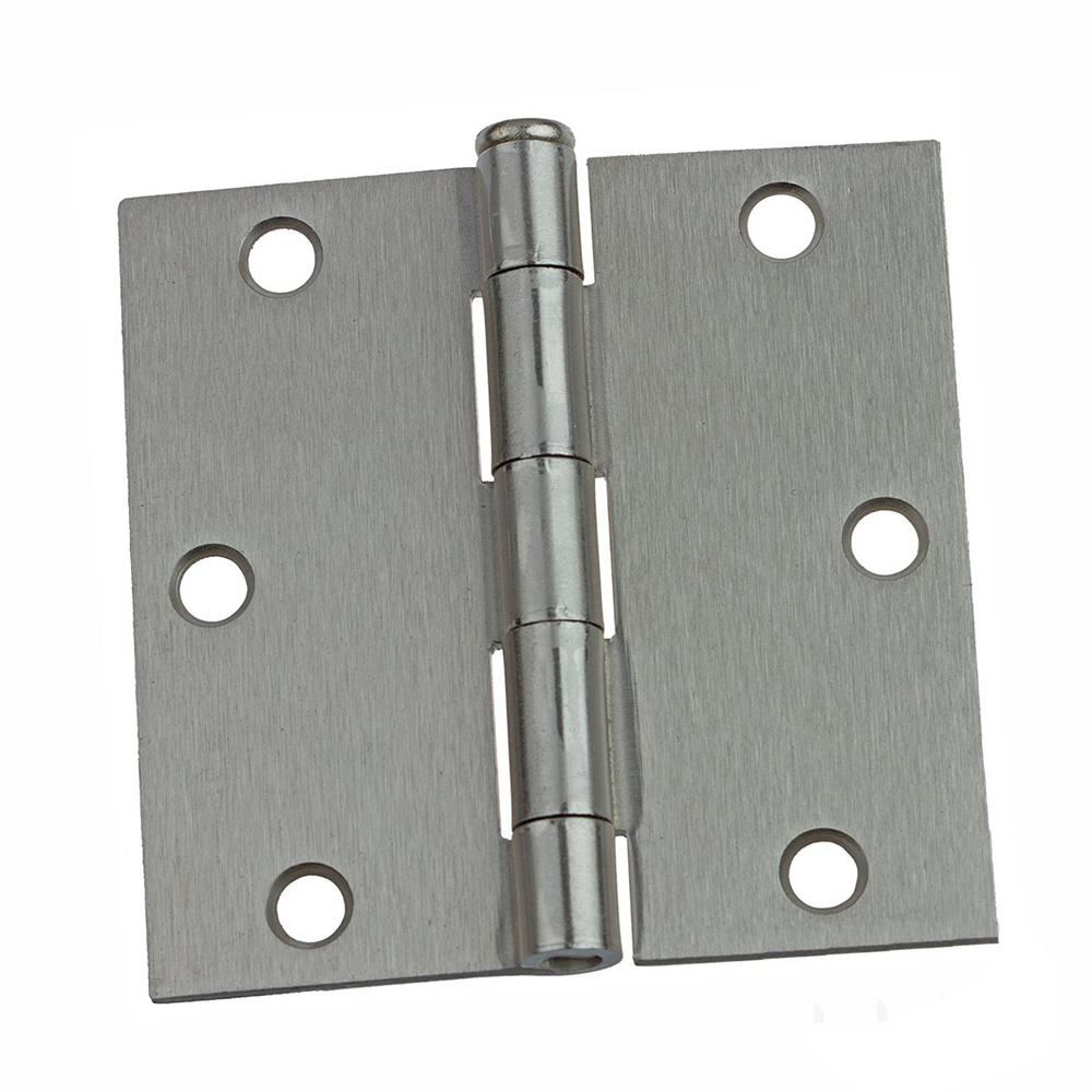 Charming Everbilt 3 1/2 In. X 5/8 In. Radius Satin Nickel Door Hinge Value Pack (12  Per Pack) 16909   The Home Depot