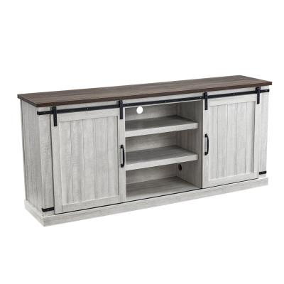 68 in. White TV Stand for TVs up to 70 in.