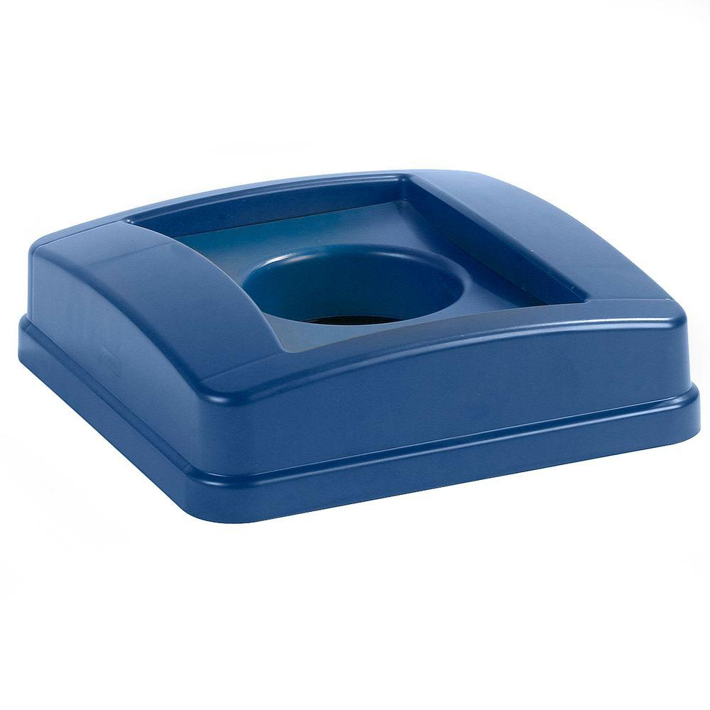 Centurian 23 Gal. Blue Square Trash Can Bottle and Can Recycling