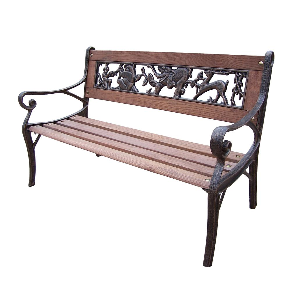 Outdoor decorative benches Yard bench