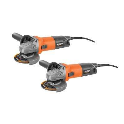 8 Amp Corded 4-1/2 in. Angle Grinder (2-Pack)