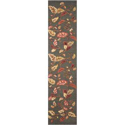 Martha Stewart Francesca Black 2 ft. 3 in. x 10 ft. Runner Rug