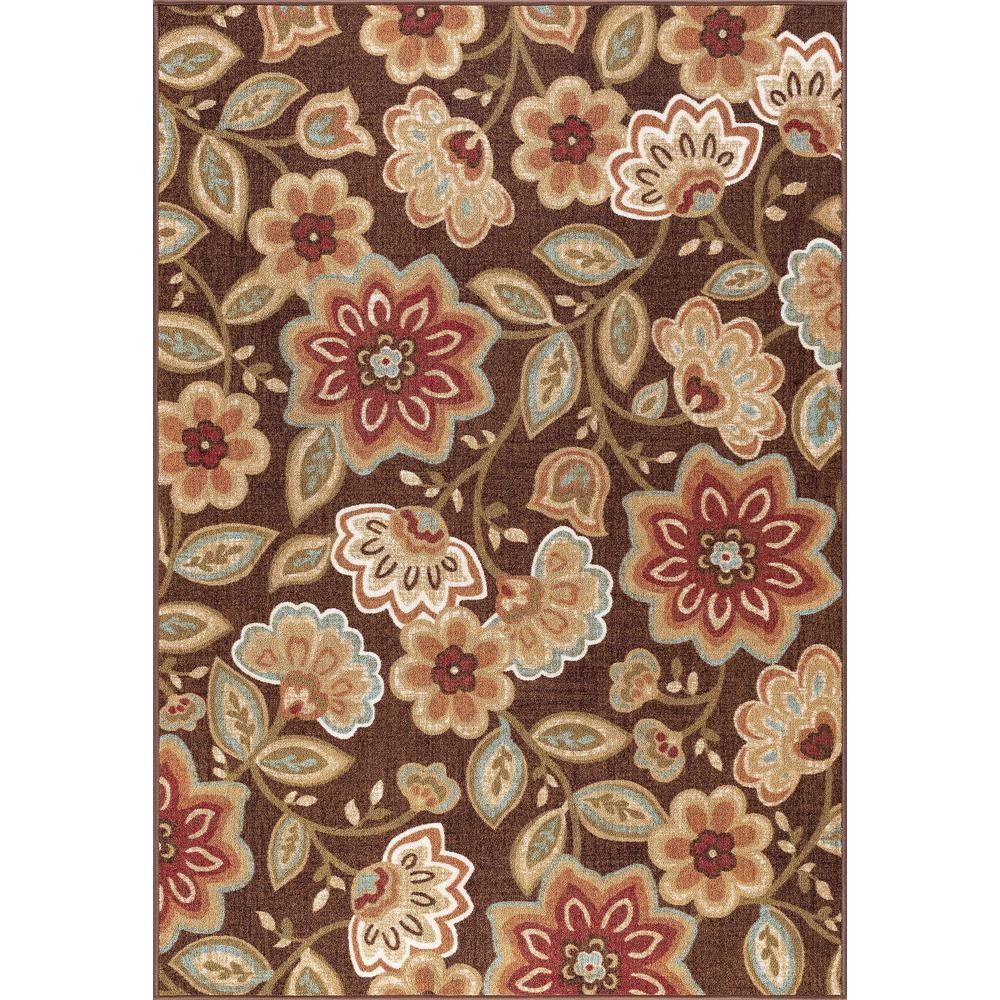 Tayse Rugs Majesty Brown 5 Ft X 7 Ft Transitional Area