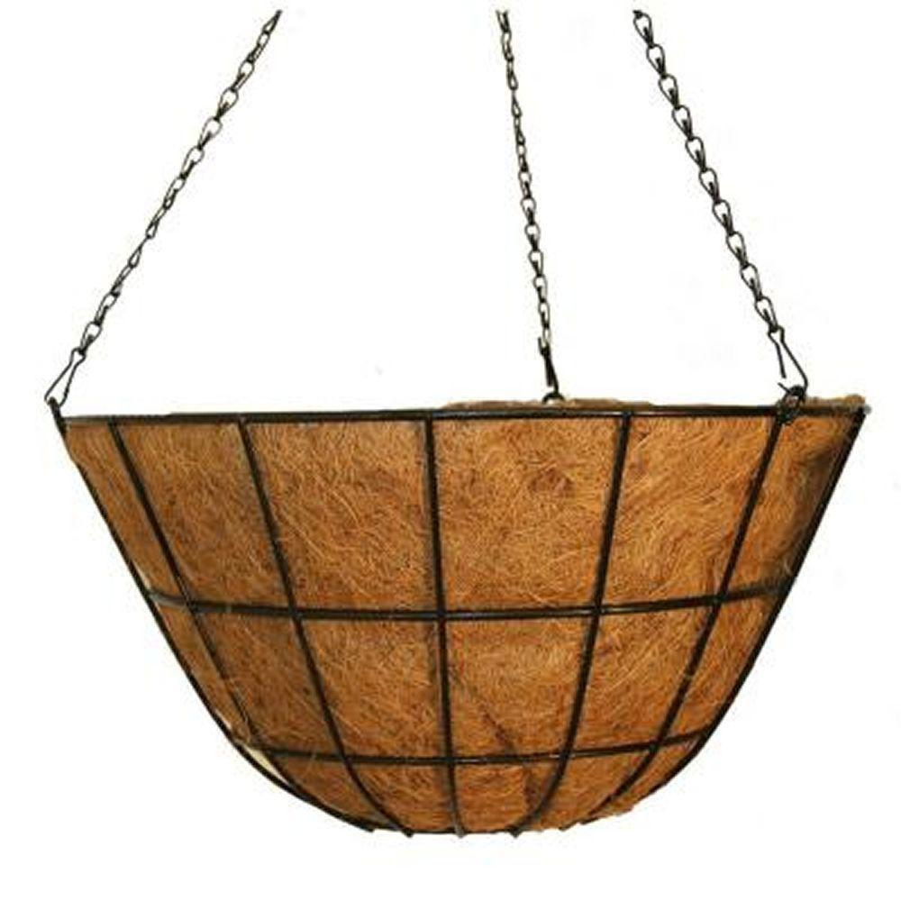 20 in. Metal Coco Hanging Basket