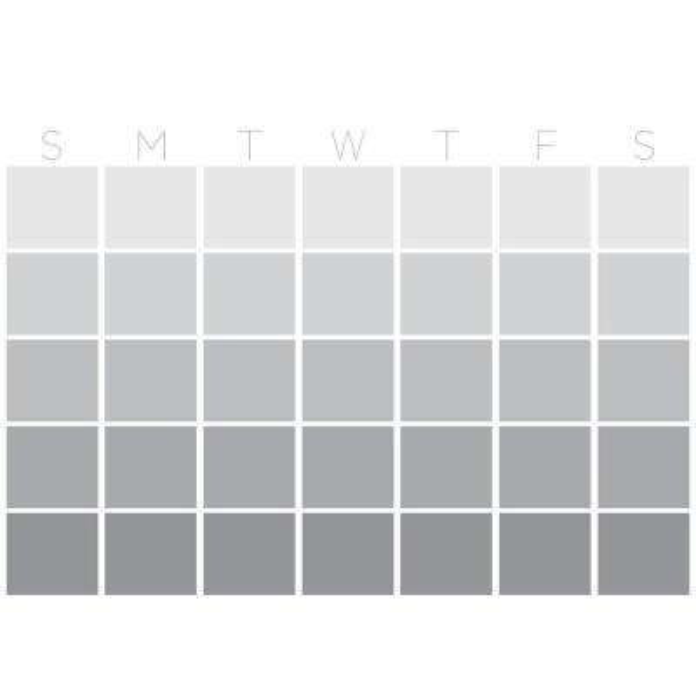 Grey Mondrian Monthly Calendar Wall Decal