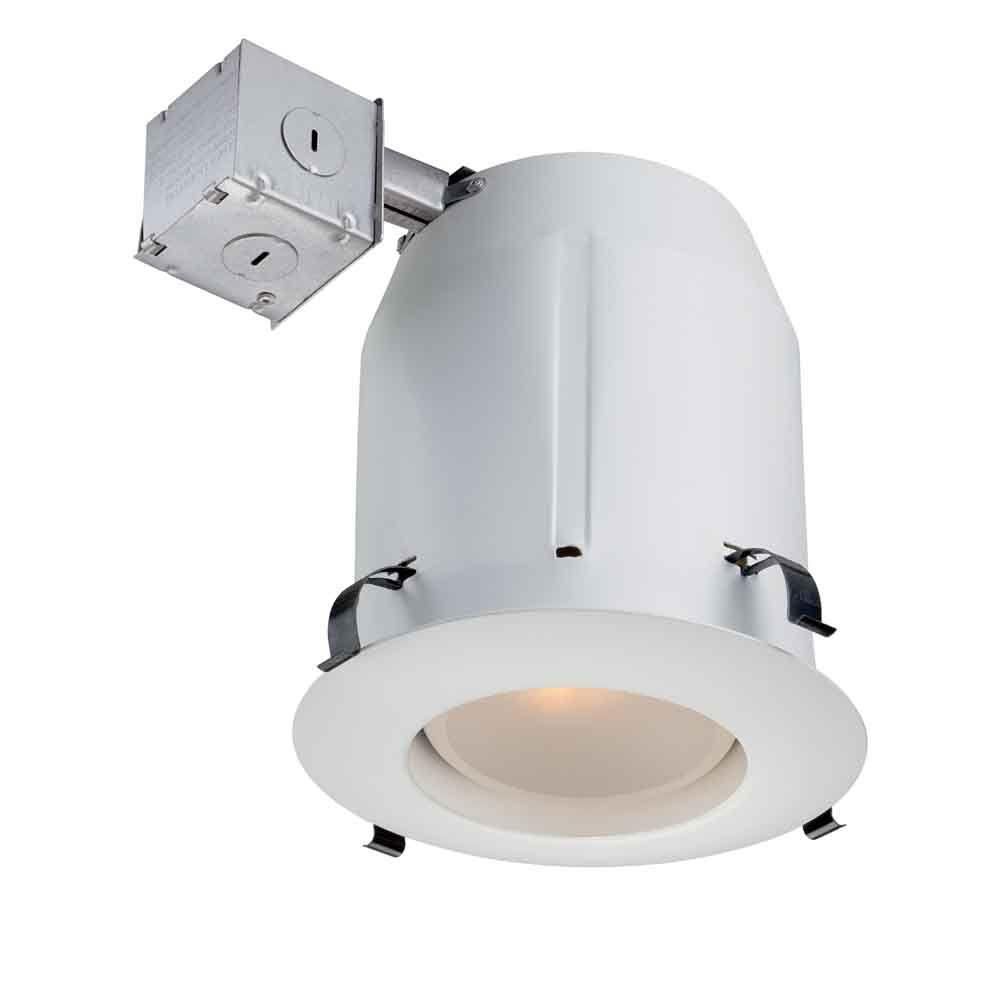 Commercial Electric 5 in. White Recessed Open Kit