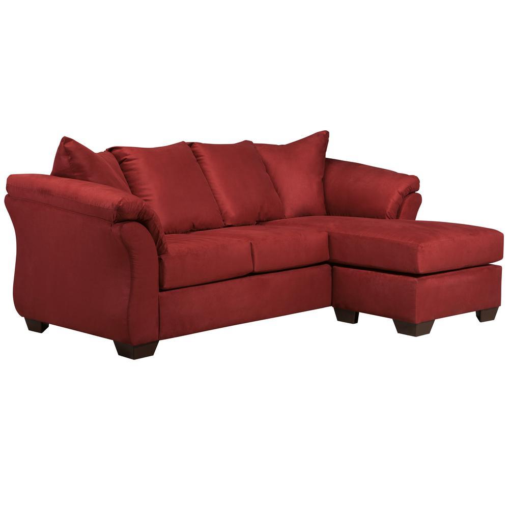 Flash Furniture Signature Design By Ashley Darcy Salsa Microfiber Sofa Chaise