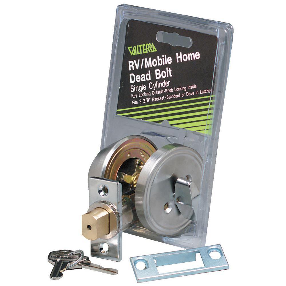 3 Way Universal Single Cylinder RV Lock Unlock Deadbolt in Stainless Steel