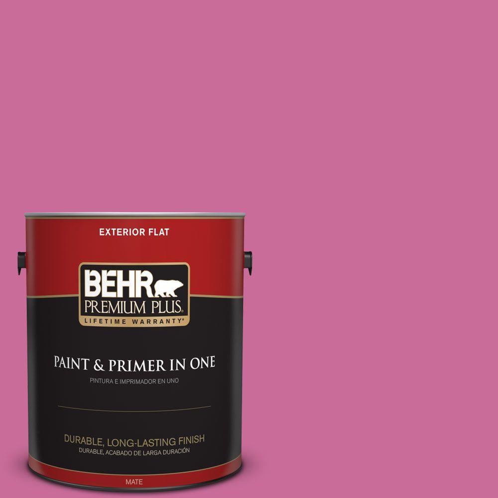 1-gal. #100B-6 Fuchsia Kiss Flat Exterior Paint