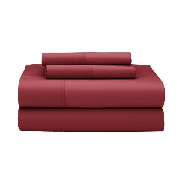 The Company Store 4-Piece Red Clay 400 Thread Count Supima Percale