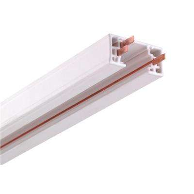8 ft. White Linear Track Lighting Section