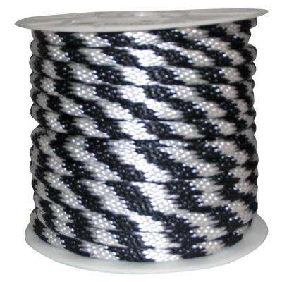 5/8 in. x 140 ft. Solid Braided Poly Rope White and Black