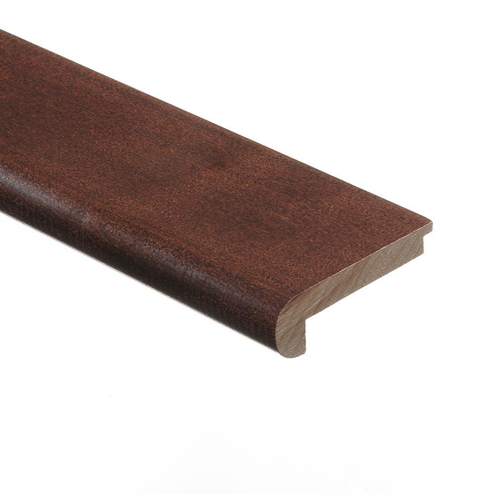 Zamma Moroccan Walnut 3/8 in. Thick x 2-3/4 in. Wide x 94 in. Length Hardwood Stair Nose Molding