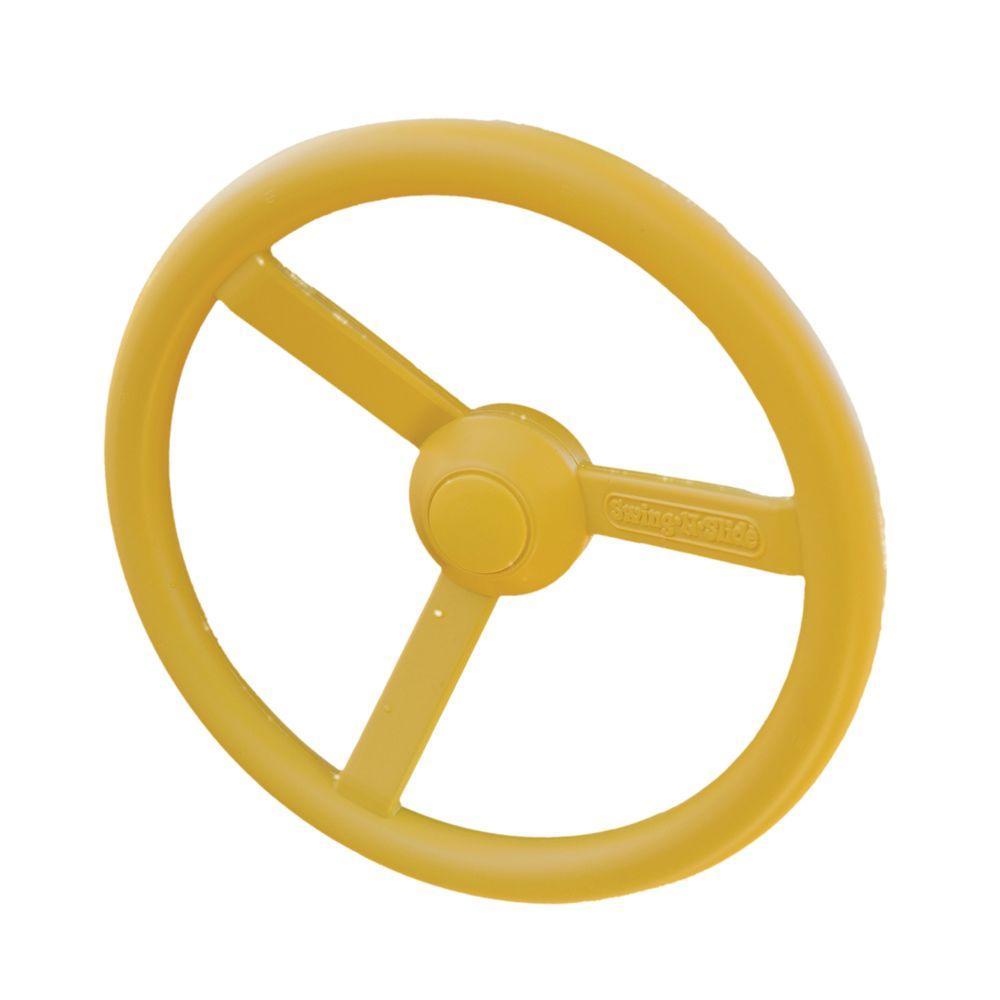 Yellow/Gold Plastic Steering Wheel