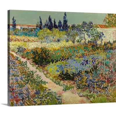 """20 in. x 16 in. """"Garden At Arles, 1888"""" by  Vincent (1853-1890) van Gogh Canvas Wall Art"""