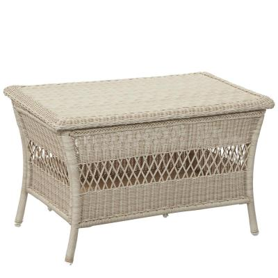 Park Meadows Off-White Wicker Outdoor Patio Trunk Table