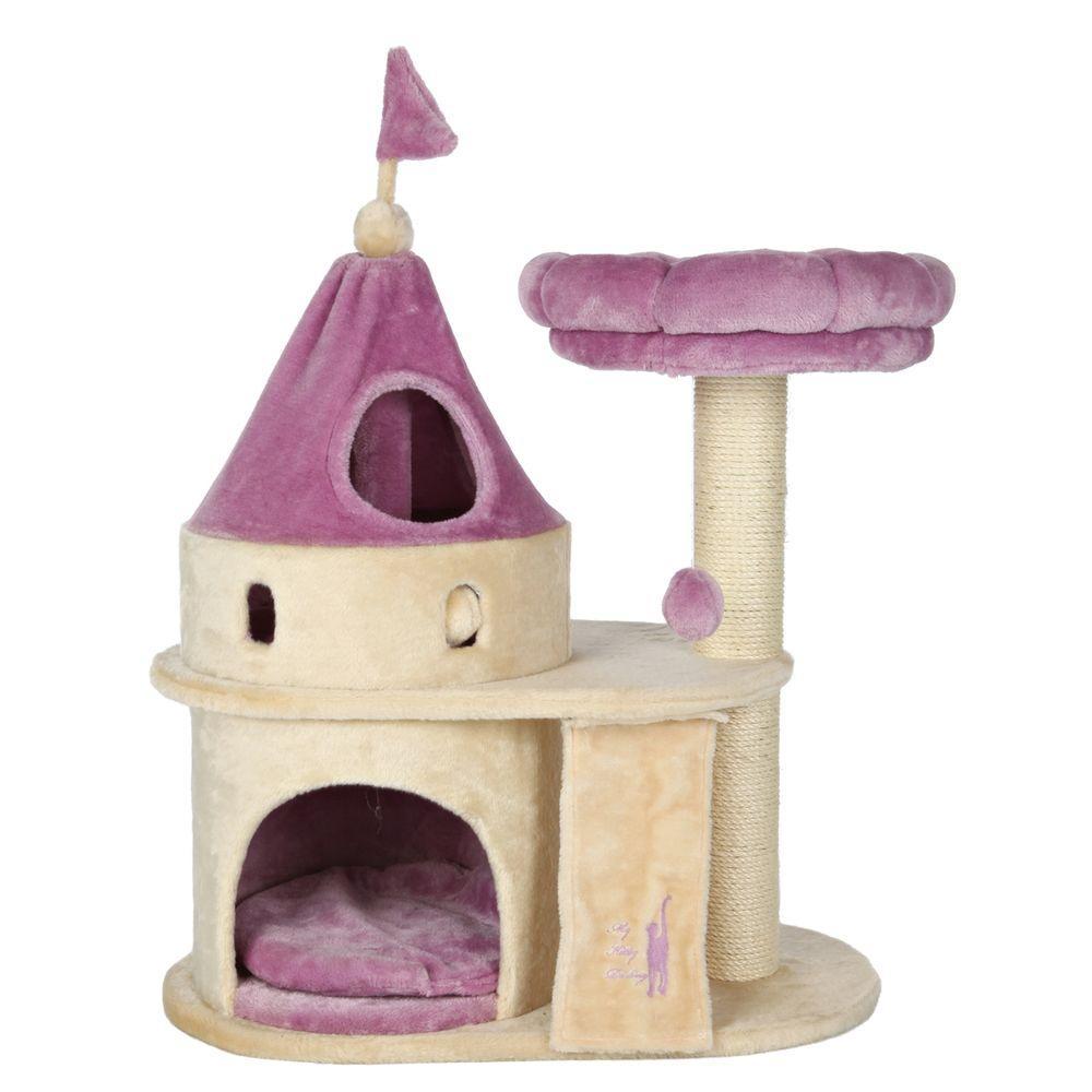 Trixie beige purple my kitty darling cat castle 44851 for Tiragraffi ikea