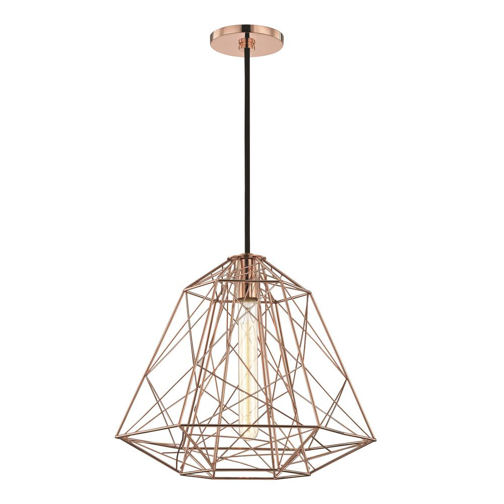 Mitzi By Hudson Valley Lighting Ani 1 Light Polished Copper Pendant