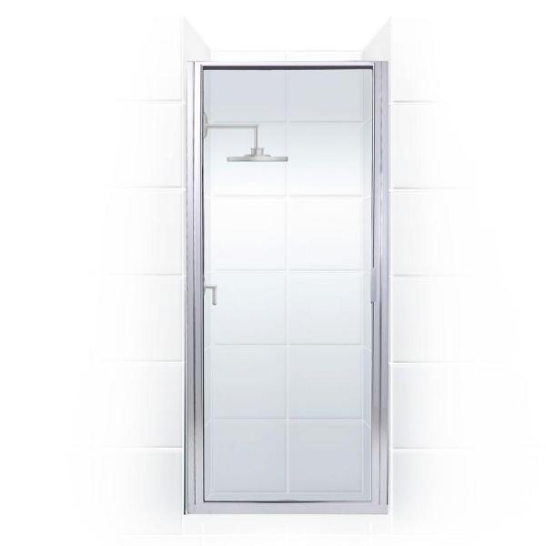 Coastal Shower Doors Paragon 23 In To 23 75 In X 70 In Framed Continuous Hinged Shower Door In Chrome With Clear Glass P23 70b C The Home Depot