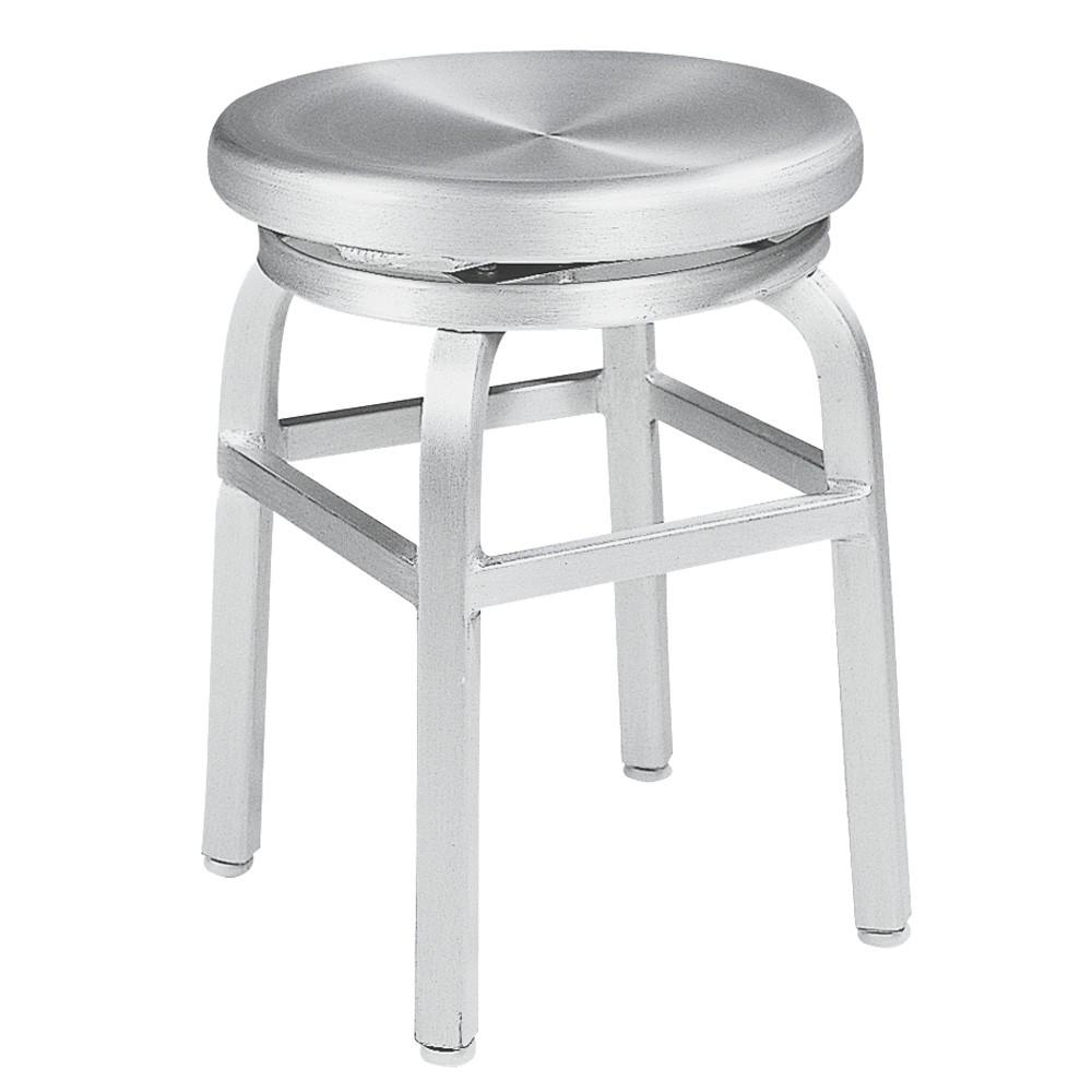 Kitchen Stools Home Depot: Home Decorators Collection Melanie 18 In. Brushed Aluminum