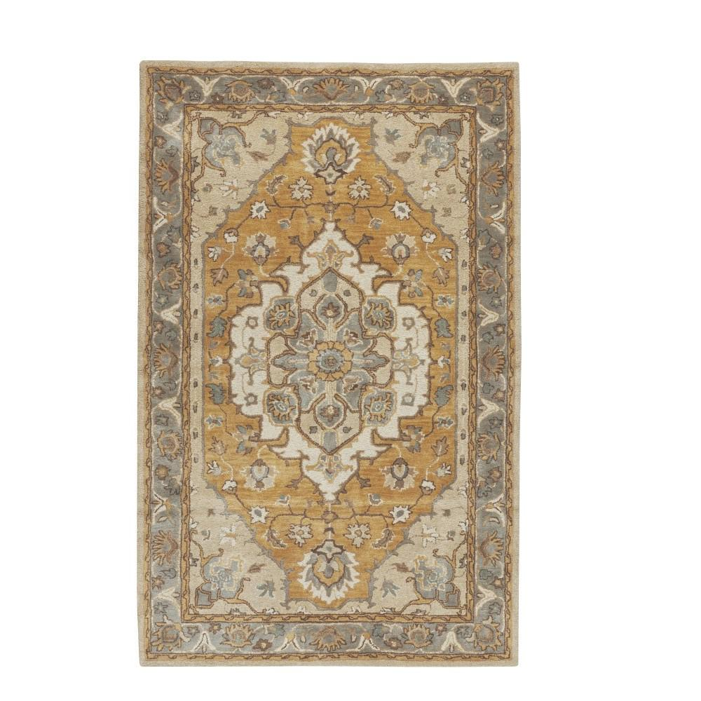 Home Decorators Collection Lorie Ivory Gold 8 Ft X 8 Ft