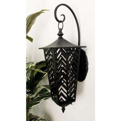 Black Candle Wall-Mounted Lantern