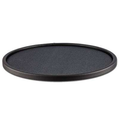 Cosmopolitan Noir 14 in. Round Tray with 0.5 in. Rim