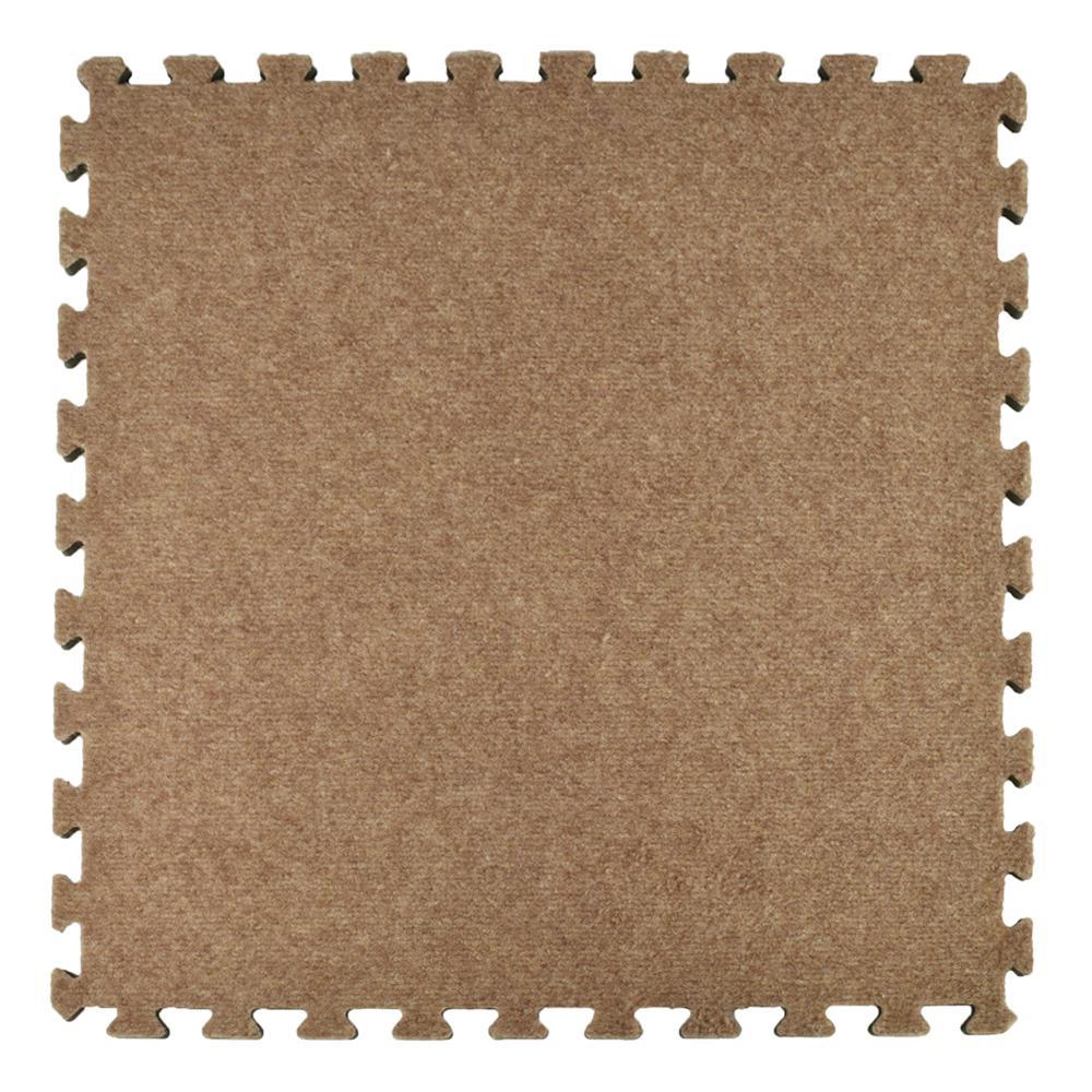 Greatmats Royal Tan Carpet Velour Plush 10 Ft. X 10 Ft. X