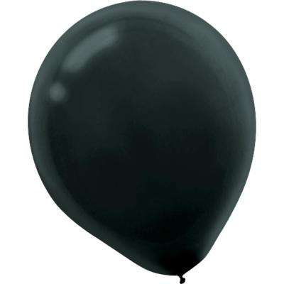 9 in. Black Latex Balloons (20-Count, 18-Pack)