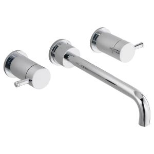 Serin Wall Mount 2-Handle Lavatory Faucet in Polished Chrome