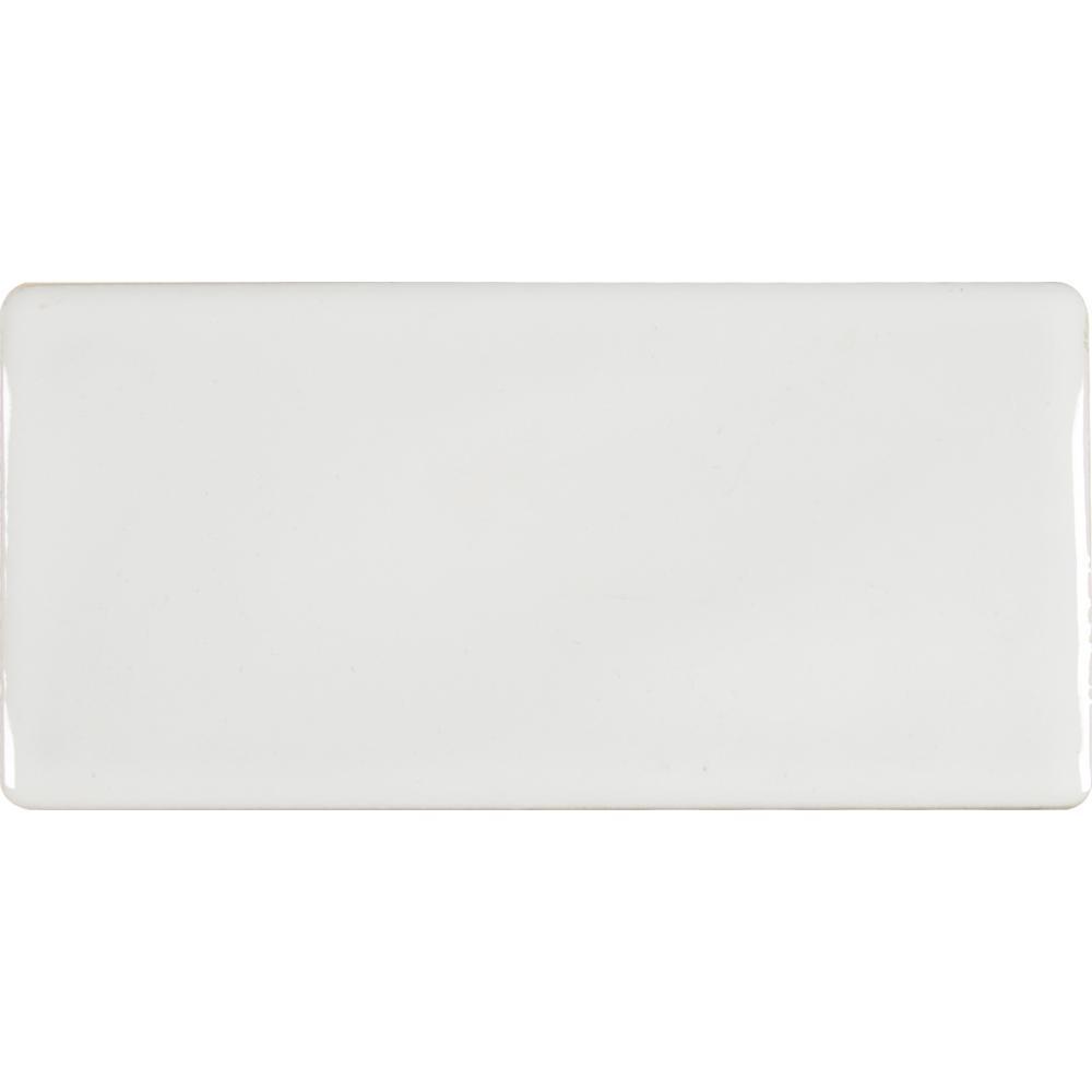 MSI Whisper White 3 in. x 6 in. Handcrafted Glazed Ceramic Wall Tile (1 sq. ft. / case)