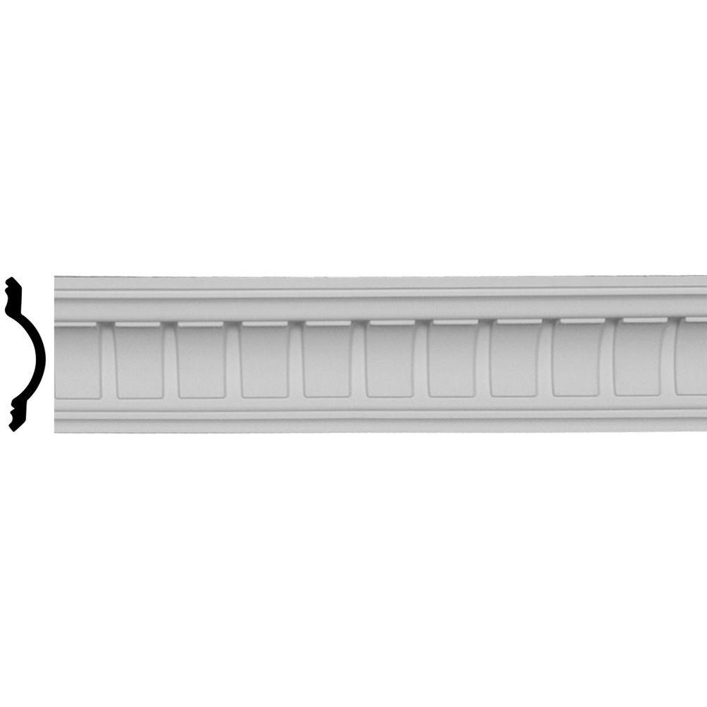 3-1/2 in. x 3-1/2 in. x 96 in. Polyurethane Cove Dentil