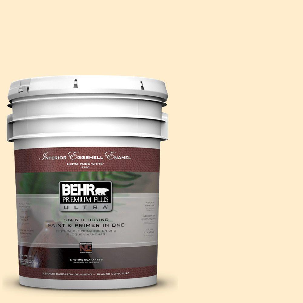 5 gal. #320A-2 Provence Creme Eggshell Enamel Interior Paint and Primer