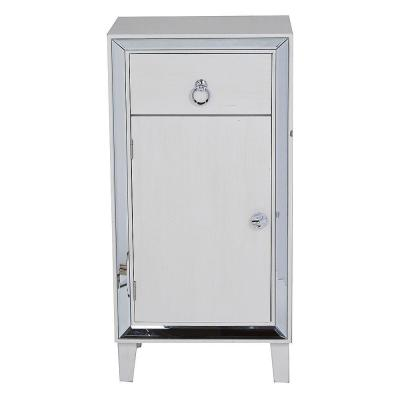 Shelly Antique White with a Drawer and Door Wood Cabinet