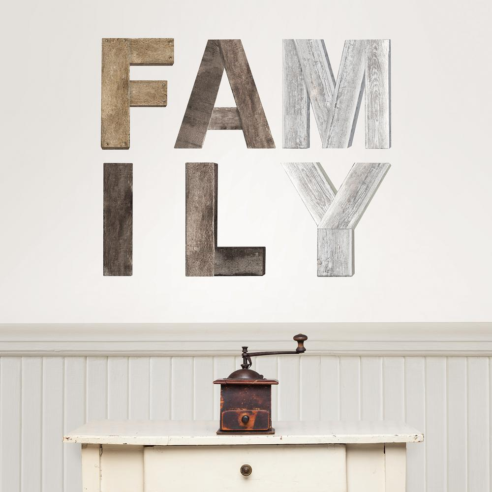 Wallpops Multi Colored Family Wall Decal Dwpk2843 The Home Depot