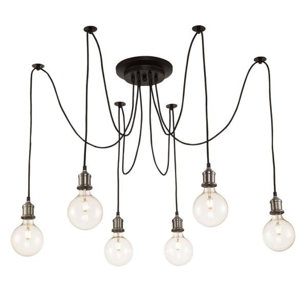 Bel Air Lighting 6 Light Brushed Nickel