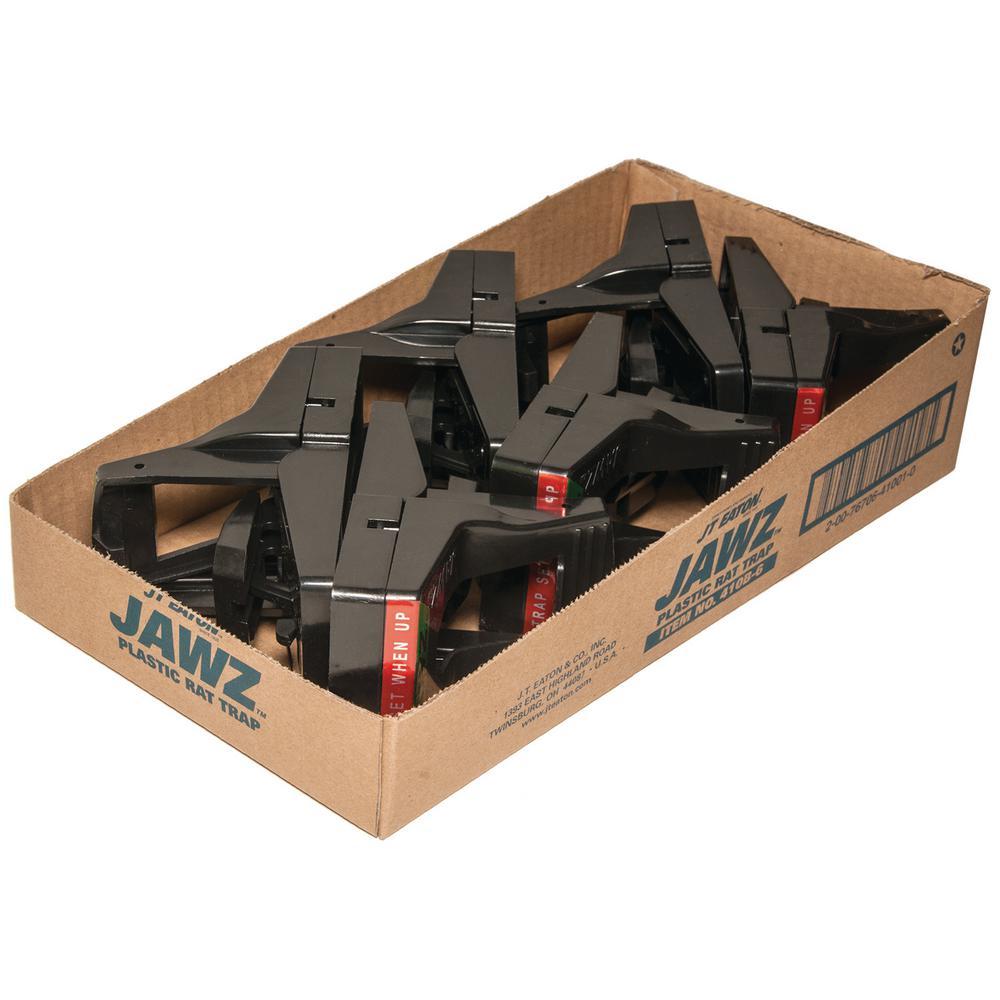 Jawz Plastic Rat Trap for Solid or Liquid Bait (6-Pack)