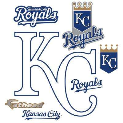 39 in. H x 39 in. W Kansas City Royals Alternate Logo Wall Mural